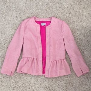 1. State Pink Peplum Blazer